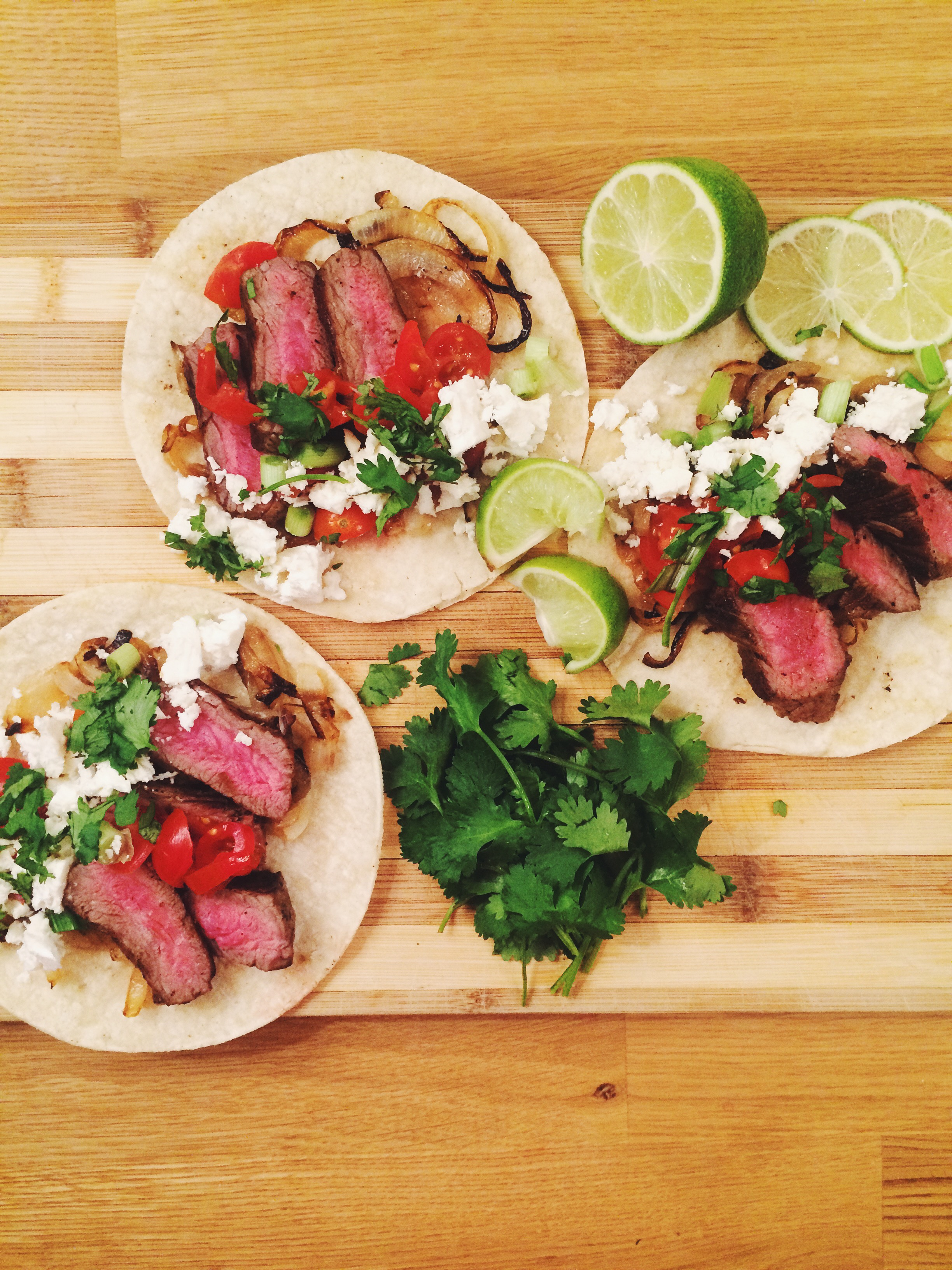 Cocoa Rubbed Flank Steak Tortillas