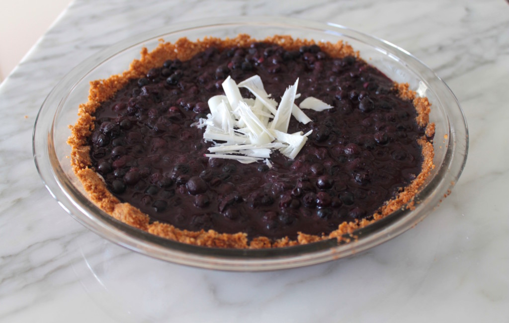 Wild Blueberry Ginger-Snap Pie